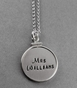 Silver Framed Charm Necklace - click to Enlarge