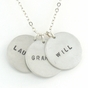 Silver Pendant Necklace - Personalized - click to Enlarge