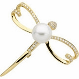 South Sea Cultured Pearl Brooches