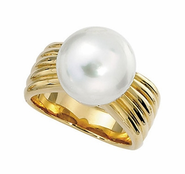 South Sea Pearl Accent Ring