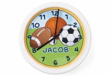 Sports Clock Wall Art Personalized