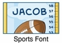 Sports Growth Chart Personalized - click to Enlarge
