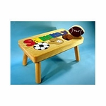 Sports Name Puzzle Step Stool