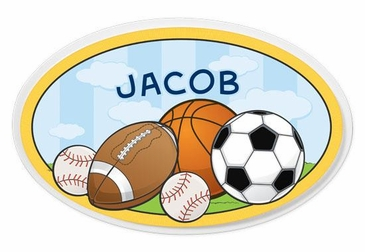 Sports Oval Wall Plaque Personalized