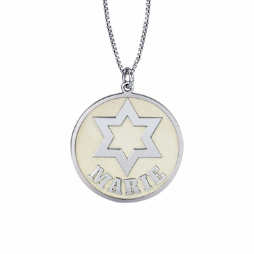 Star of David Personalized Pendant Necklace