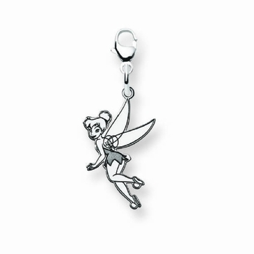 Sterling Silver Disney Small Tinker Bell Charm with Lobster Clasp