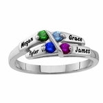 Sterling Silver Family Names Ring
