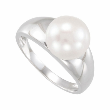 Sterling Silver Natural Pearl Finger Ring