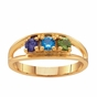 Sterling Silver Open Band Birthstone Ring - click to Enlarge