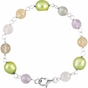 Sterling Silver Pearl and Bead Armlet - click to Enlarge