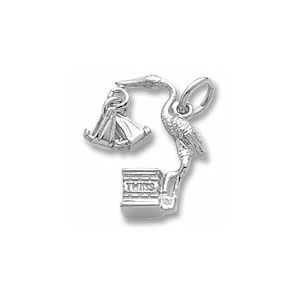 Stork Twins Charm by Forever Charms