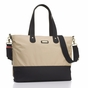 Storksak Tote Champagne Black Diaper Bag - click to Enlarge