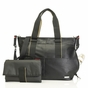 Storksak Eden Black Faux Leather Diaper Bag - click to Enlarge