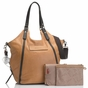 Storksak Ellena�Twisted Tan Leather Diaper Bag - click to Enlarge