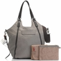 Storksak Ellena Twisted Taupe Leather Diaper Bag - click to Enlarge