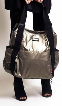 Storksak Tania Bee Graphite Diaper Bag