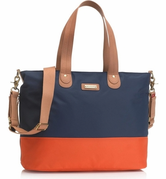 Storksak Tote Navy Orange Nylon Diaper Bag