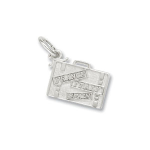 Suitcase Europe Charm by Forever Charms