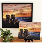 Sunset Ocean Art Canvas - Personalized with Names and Date