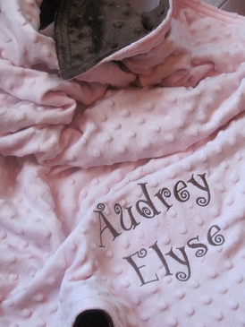 Super Soft Personalized Chenille Baby Blanket