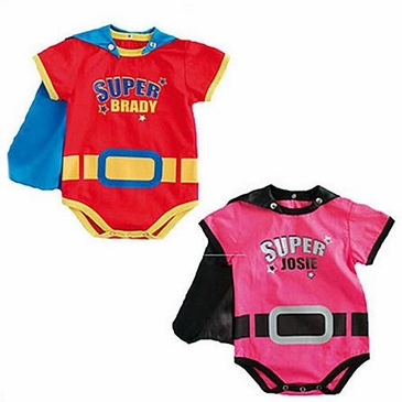 Superhero Personalized Baby Rompers