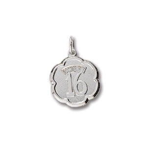 Sweet 16 Fluted Charm by Forever Charms - Personalized