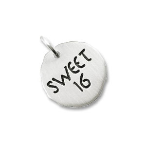Sweet 16  Tag Charm by Forever Charms - Personalized