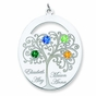 Sweet Family Tree and Birthstone Pendant - Personalized - click to Enlarge