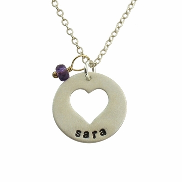 Sweetheart Name Charm Necklace