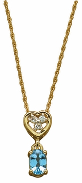 Sweetness and Light Birthstone and Diamond Necklace