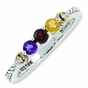 Sweetness of Family Vintage Birthstone Ring with Diamonds - click to Enlarge