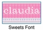 Sweets Growth Chart Personalized - click to Enlarge