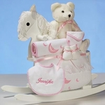 Teddy Bear and Rocking Chair For Girl (Personalized)