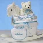 Teddy Bear & Rocking Chair For Boy (Personalized)