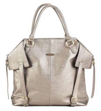 The Charlie II Tote Diaper Bag by Timi & Leslie - Pewter