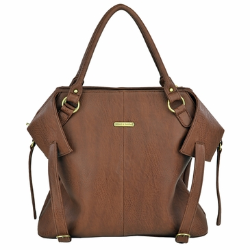 The Charlie Tote Diaper Bag by Timi & Leslie - Brown Cinnamon