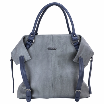The Charlie Tote Diaper Bag by Timi & Leslie - Gray/Navy
