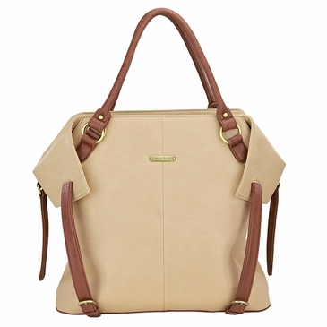 The Charlie Tote Diaper Bag by Timi & Leslie - Sand/Cinnamon