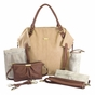 The Charlie Tote Diaper Bag by Timi & Leslie - Sand/Cinnamon - click to Enlarge