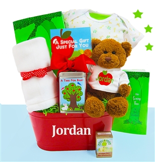 """""""The Giving Tree"""" Baby Gift Basket"""