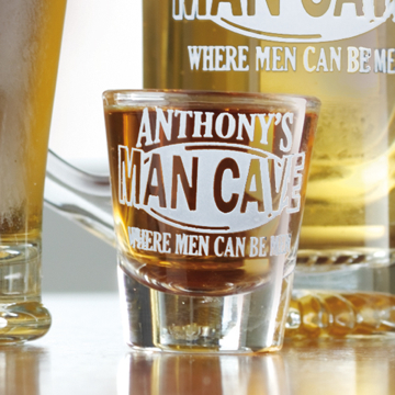 The Man Cave Shot Glass