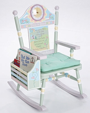 Time To Read Rocking Chair - Girl