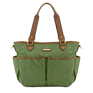 Timi & Leslie Tag-A-Long Serengeti Tote Diaper Bag - Green