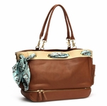 Toffee/Ivory Grommet Diaper Bag by Nest  (On Sale!)