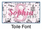 "Toile Canvas Wall Art Personalized - 10"" x 24"" - click to Enlarge"