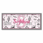 "Toile Canvas Wall Art Personalized - 10"" x 24"""