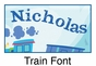 """Train Canvas Wall Art Personalized - 10"""" x 24"""" - click to Enlarge"""