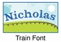 Train Growth Chart Personalized - click to Enlarge