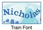 Train Oval Wall Plaque Personalized - click to Enlarge