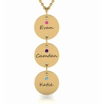 Triple Chic Tower Birthstone Necklace